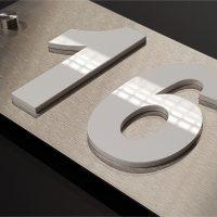 hausnummernschilder lazer concept. Black Bedroom Furniture Sets. Home Design Ideas